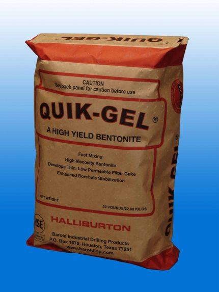 Baroid Quik-Gel, 50 lb  Bag, 200 Mesh Wyoming Sodium Bentonite